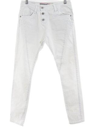 Please Slim Jeans hellgrau Used-Optik