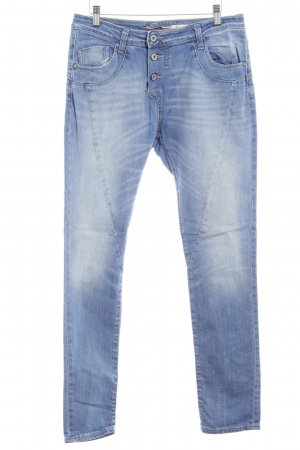 Please Slim Jeans kornblumenblau Casual-Look