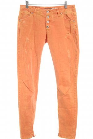Please Slim Jeans orange Washed-Optik
