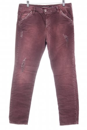 Please Slim Jeans purpur Casual-Look