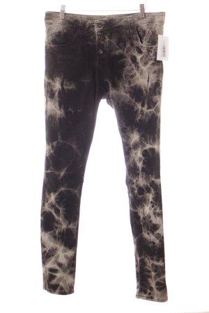 Please Slim Jeans schwarz-grau Farbverlauf Casual-Look