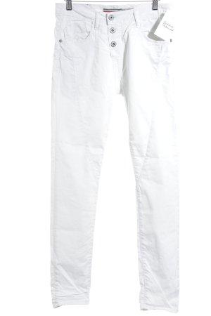 Please Slim Jeans weiß Street-Fashion-Look