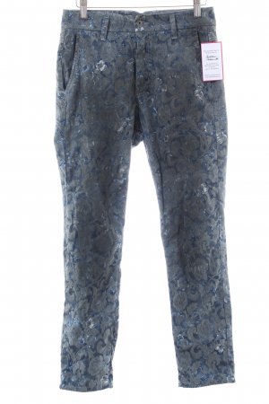 Please Stoffhose blau florales Muster Casual-Look
