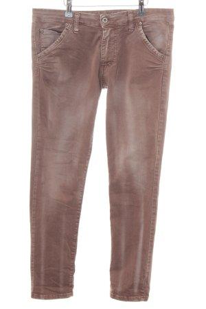 Please Straight-Leg Jeans braun Street-Fashion-Look