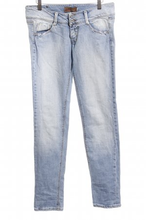 Please Straight-Leg Jeans blassblau Destroy-Optik