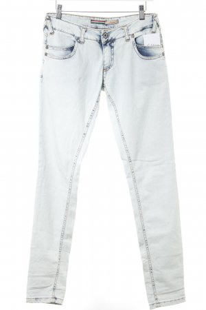 Please Straight-Leg Jeans blassblau Washed-Optik