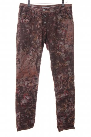 Please Straight-Leg Jeans Blumenmuster Romantik-Look