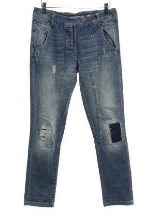 Please Straight-Leg Jeans himmelblau Used-Optik