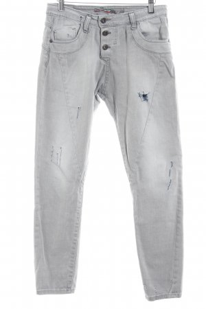 Please Straight-Leg Jeans mehrfarbig Used-Optik