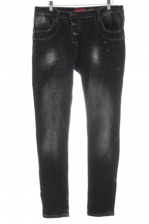 Please Straight-Leg Jeans taupe Destroy-Optik