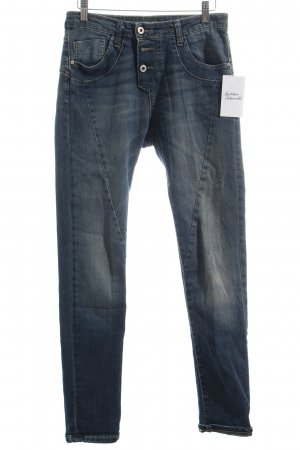 Please Stretch Jeans blau Used-Optik