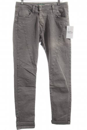 Please Stretch Jeans grau schlichter Stil