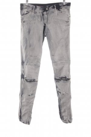 Please Stretchhose grau-schwarz Biker-Look