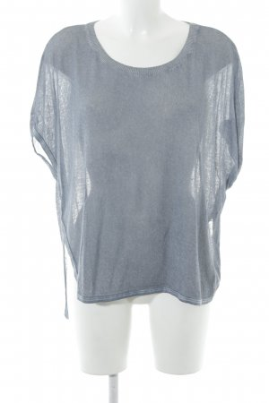 Please Camisa tejida gris pizarra look casual