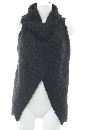 Please Gebreid vest zwart casual uitstraling