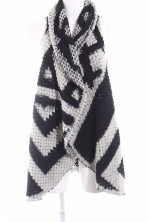 Please Knitted Vest black-natural white abstract print casual look