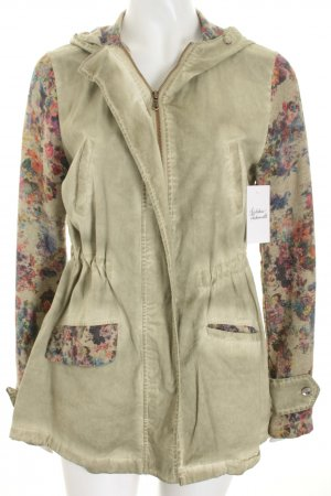 Please Übergangsjacke Blumenmuster Casual-Look