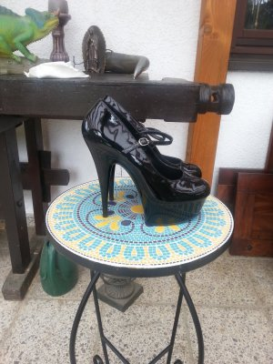 Pleaser Tacones Mary Jane negro Material sintético
