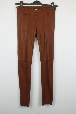 Plein sud Pantalone in pelle cognac Pelle