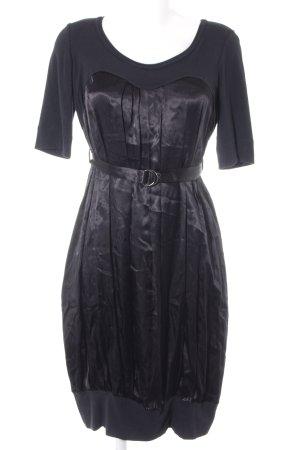 Plein Sud Jeanius Balloon Dress black wet-look