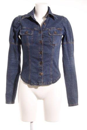 Plein Sud Jeans Jeansjacke dunkelblau Casual-Look