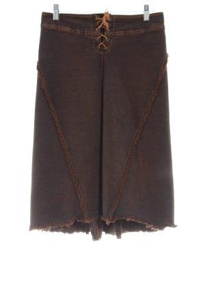 Plein Sud Jeans Denim Skirt brown street-fashion look