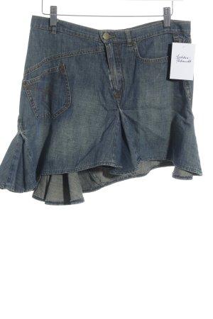 Plein Sud Jeans Jupe en jeans gris ardoise-crème Look de plage
