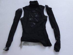 Plein sud Mesh Shirt black-white synthetic fibre
