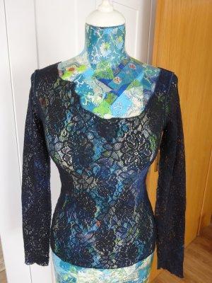 Plein Sud Jeans Netshirt donkerblauw-lichtblauw Polyamide