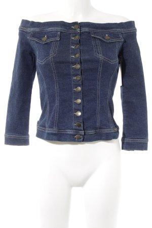 Plein sud Jeansjacke blau Street-Fashion-Look