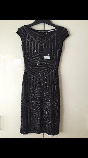 Plein Sud Kleid Pailletten schwarz Etui