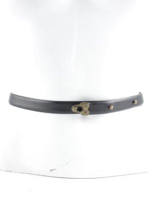 Plein sud Taillengürtel schwarz-sandbraun Casual-Look