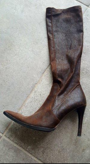Plein sud Stretch laarzen donkerbruin-bruin