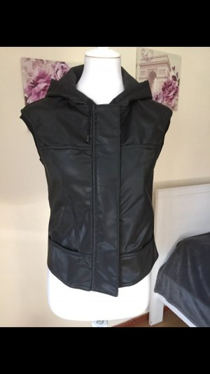 Plein sud Hooded Vest black viscose