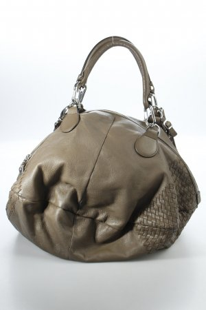 Plinio Visona Shopper graubraun Street-Fashion-Look