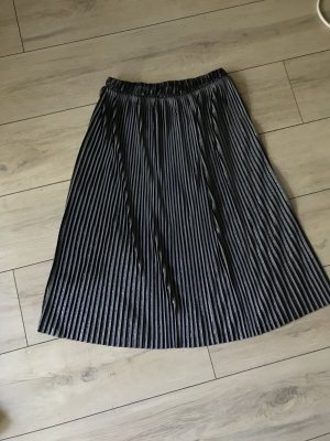 Zara Pleated Skirt black-dark blue