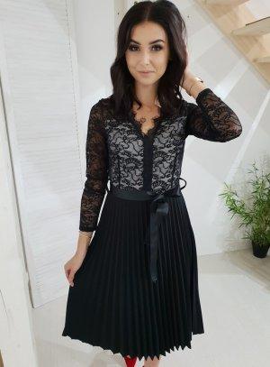 Kanten jurk wit-zwart