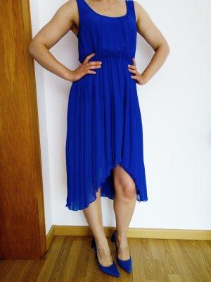 Plisse Kleid in Blau Gr.  36