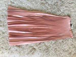 Zara Woman Falda plisada rosa