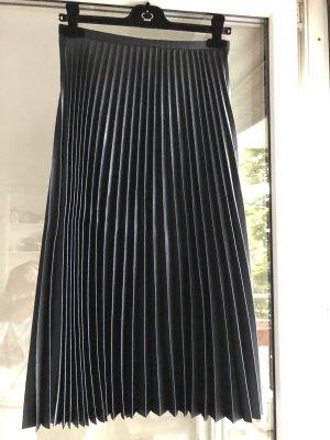Zara Woman Jupe plissée bleu foncé