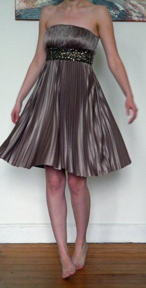 Plissee-Kleid # neu # 36 # APART # taupe # Schmucksteine