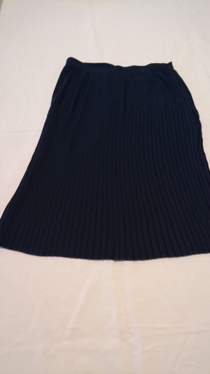 Mint&berry Pleated Skirt dark blue polyester