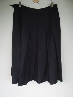 Vintage Pleated Skirt dark blue