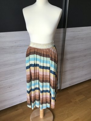 Jupe plissée multicolore tissu mixte