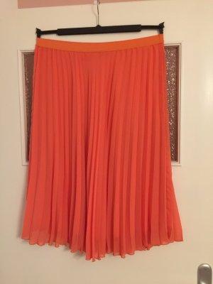 Primark Pleated Skirt apricot-salmon