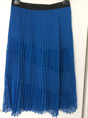 Maje Pleated Skirt blue polyester