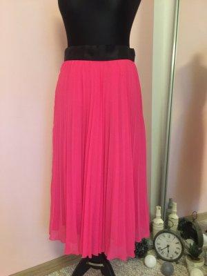H&M Pleated Skirt pink-black