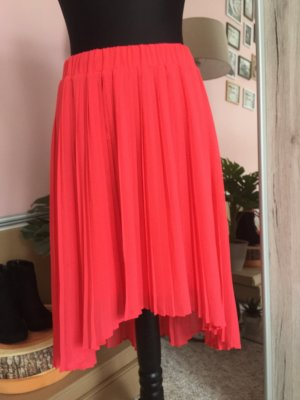 Mango Pleated Skirt apricot-salmon