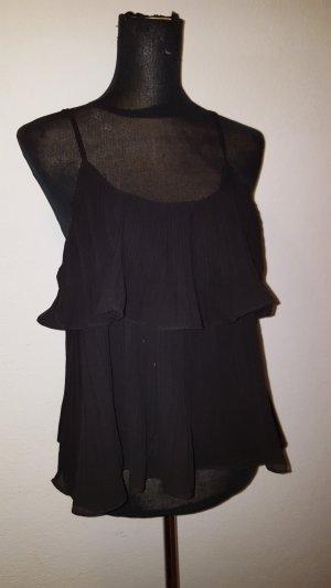 new collection Top de tirantes finos negro