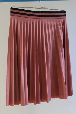 Vila Pleated Skirt apricot-dusky pink polyester
